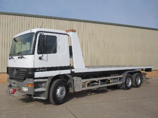 Mercedes Actros 3343 6x4 slide bed & lift recovery truck LHD | used military vehicles, MOD surplus for sale