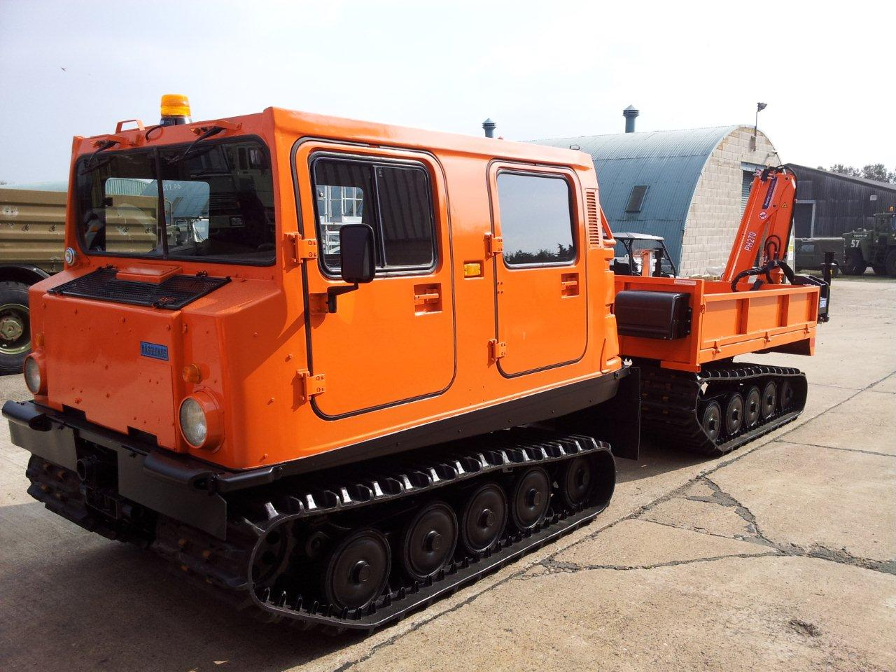 Hagglund  BV206 Cargo Carrier with Crane for sale | military vehicles