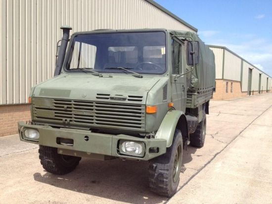 Mercedes unimog U1300L troop carrier / shoot vehicle 4x4  for sale. The UK MOD Direct Sales