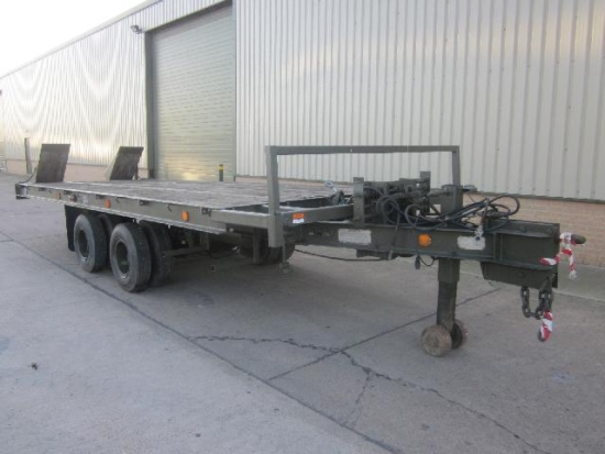WAS SOLD Weeks 10,000 kg tilt bed tandem axle trailer.