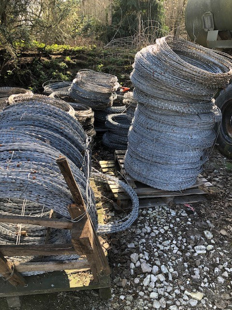 Galvanized razor wire | used military vehicles, MOD surplus for sale