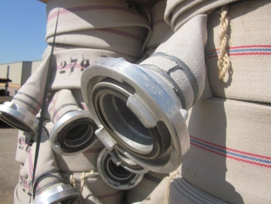 4` canvas hose Stortz Couplings for sale | military vehicles
