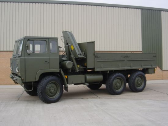 Scania SBAT 111SA 6x6 Drop Side Cargo Truck & Crane | used military vehicles, MOD surplus for sale