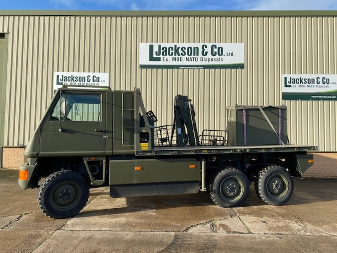 Mowag Duro II 6x6 cargo crane  truck for sale