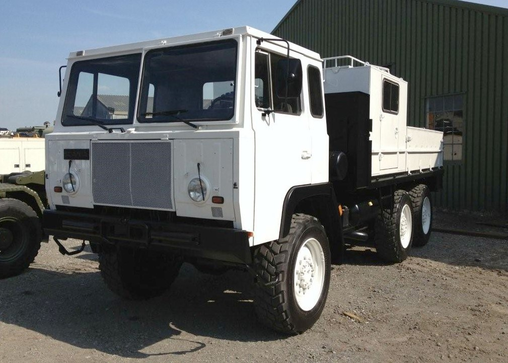 Scania SBAT 111SA 6x6 drop side cargo truck for sale