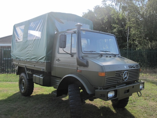Mercedes Unimog U1300L 4x4 Shoot Vehicle  for sale . The UK MOD Direct Sales