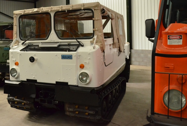 Hagglunds BV206  soft top with ammo body  for sale . The UK MOD Direct Sales