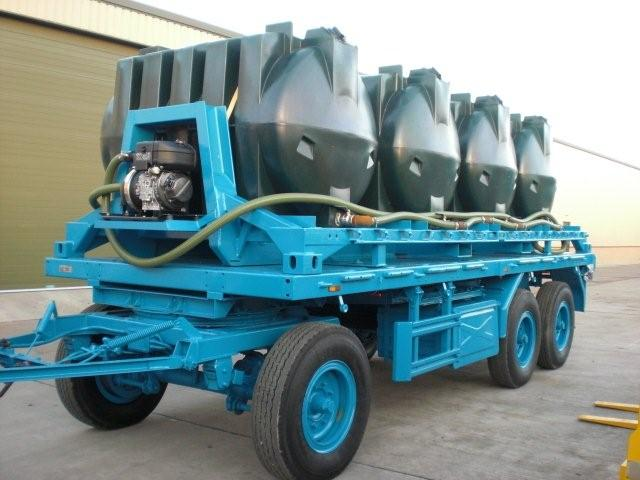 Schmitz 10.000 lt draw bar tanker trailer for sale