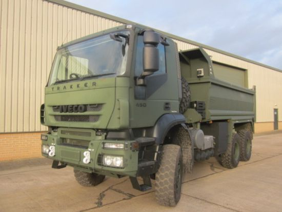 Iveco trakker 6x6 RHD tippers truck   used military vehicles, MOD surplus for sale