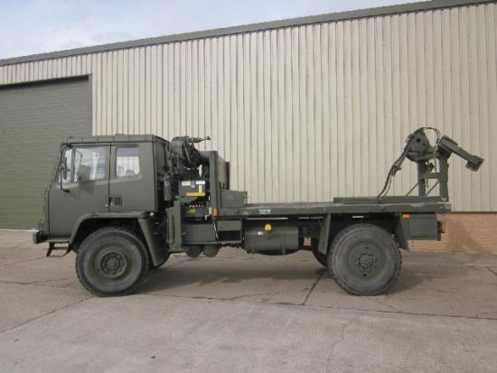 Leyland Daf 4x4 crane truck with tyre handler | used military vehicles, MOD surplus for sale