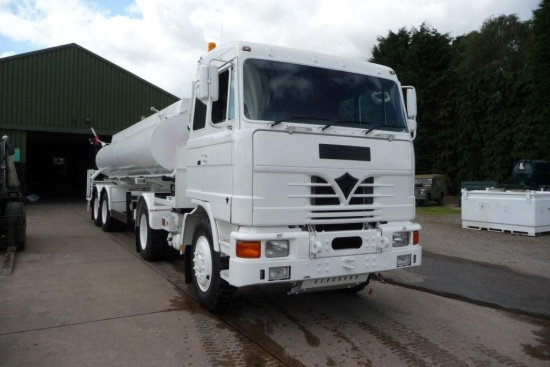 Foden 4380 MWAD 8x6 Multidrive Tanker truck 20000 Lt.  for sale . The UK MOD Direct Sales
