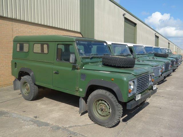 Land Rover Defender 110 300TDi hard tops  for sale. The UK MOD Direct Sales
