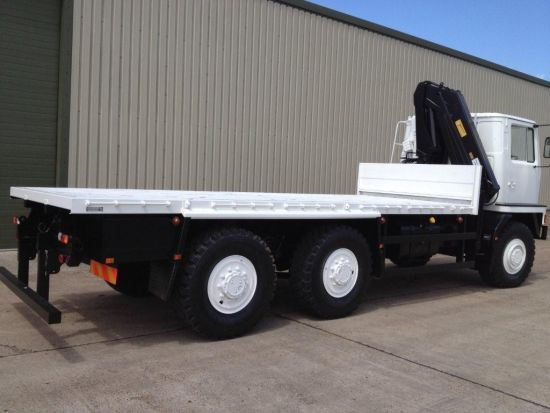 Bedford TM 6x6 Drop Side Cargo Truck with Atlas Crane for sale