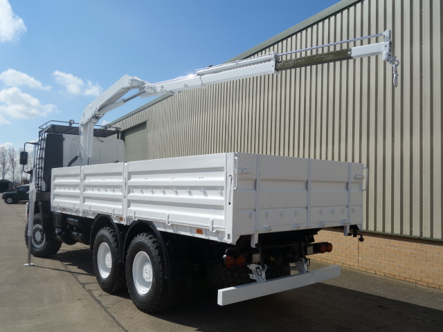 Iveco 260E37 Eurotrakker LHD 6x6 Drop Side truck with HMF crane  military for sale