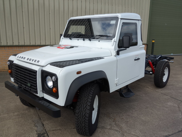 New Armoured Land Rover 130 RHD Chassis Cab