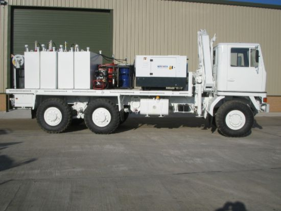 Bedford TM 6x6 Lube Truck with Atlas 3500kg hydraulic crane  for sale. The UK MOD Direct Sales