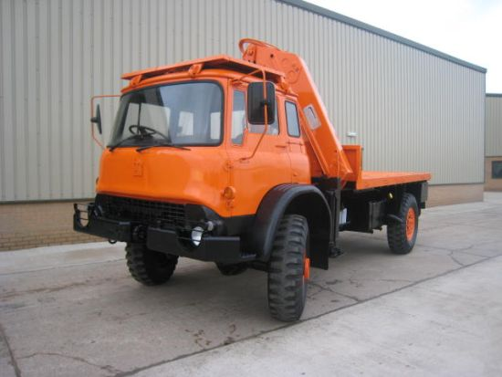 Bedford MJ 4x4 cargo platforms with Atlas Crane | used military vehicles, MOD surplus for sale
