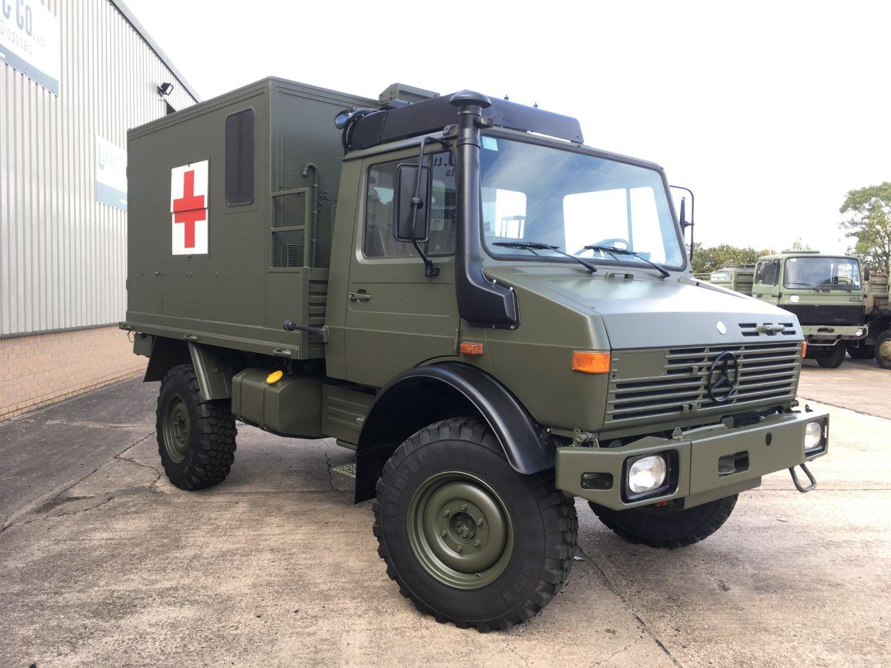 Mercedes Benz Unimog U1300L 4x4 Medical Ambulance | Military Land Rovers 90, 110,130, Range Rovers, Mercedes for Sale