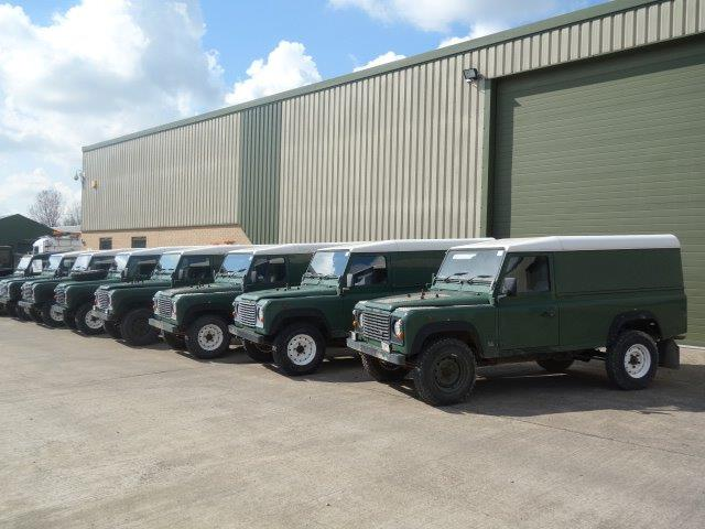 Land Rover Defender 110 300TDi hard tops  for sale . The UK MOD Direct Sales