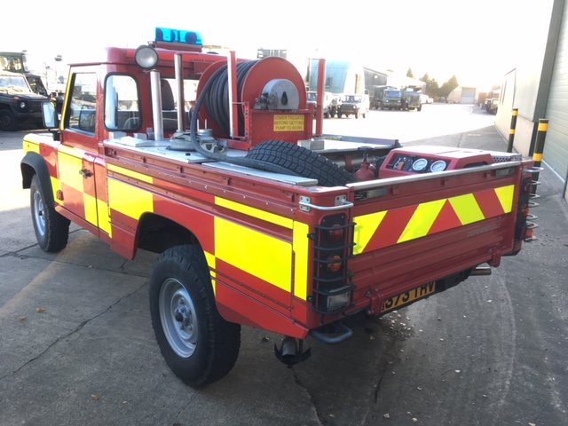 Land Rover 110 Fire Engine | used military vehicles, MOD surplus for sale