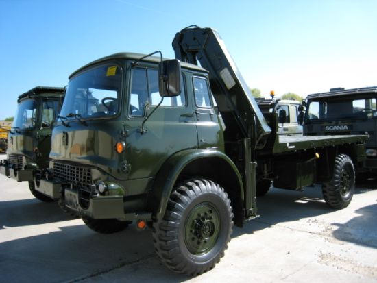 SOLD Bedford MJ 4x4 cargo platforms with Atlas Crane | used military vehicles, MOD surplus for sale