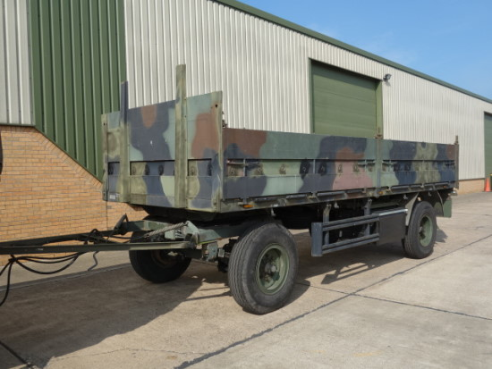 Kassbohrer 2 axle draw bar cargo trailer for sale | military vehicles