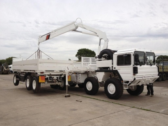 Man 8x8 CAT A1 cargo truck with HIAB Crane | used military vehicles for sale