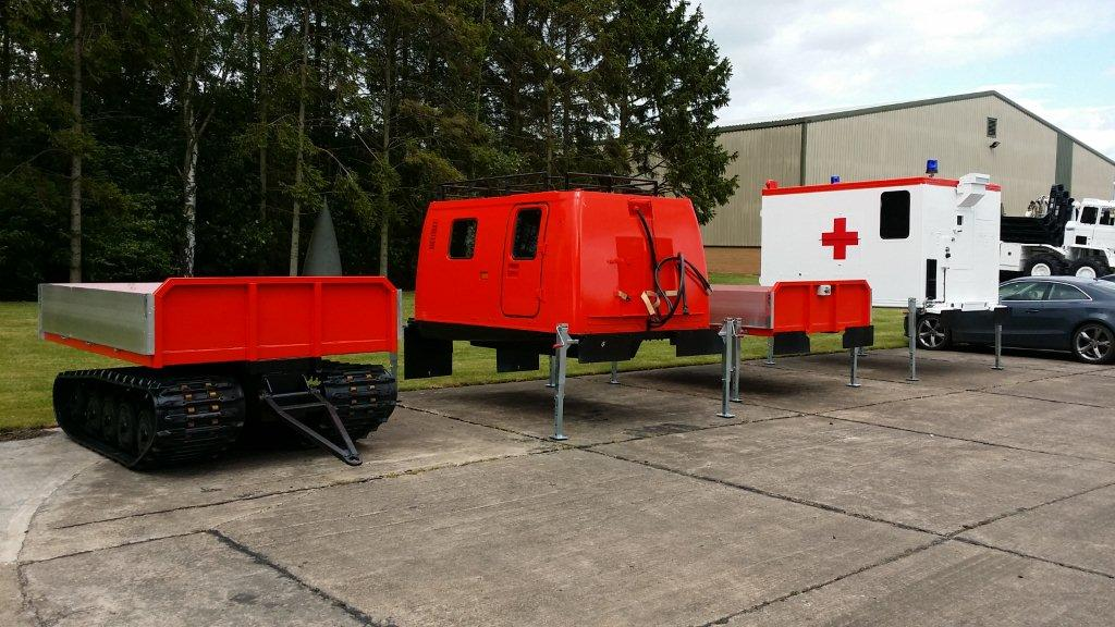 Hagglund Bv206 with multiple interchangeable bodies  military for sale