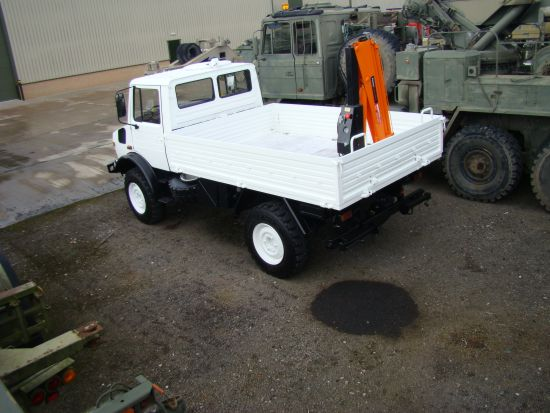 Mercedes Unimog U1300L crane truck | used military vehicles, MOD surplus for sale