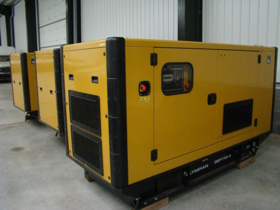 WAS SOLD NEW Caterpillar Olympian 110 KVA  silent generator