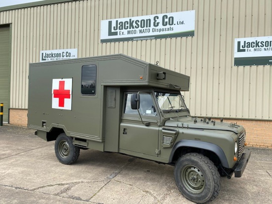 Land Rover 130 Defender Wolf Ambulance | Military Land Rovers 90, 110,130, Range Rovers, Mercedes for Sale