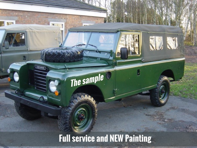 land rover series iii 109 lhd lwb soft tops petrol for sale mod direct sales ljackson and. Black Bedroom Furniture Sets. Home Design Ideas