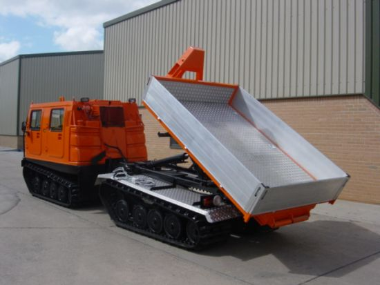 Hagglunds BV206 dumper multilift  for sale. The UK MOD Direct Sales