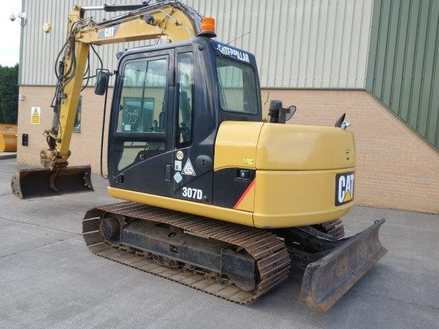 Caterpillar 307 D excavator 2010  for sale . The UK MOD Direct Sales