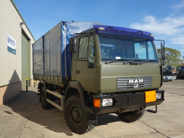 MAN 10.185 4x4 drop side cargo trucks | used military vehicles, MOD surplus for sale