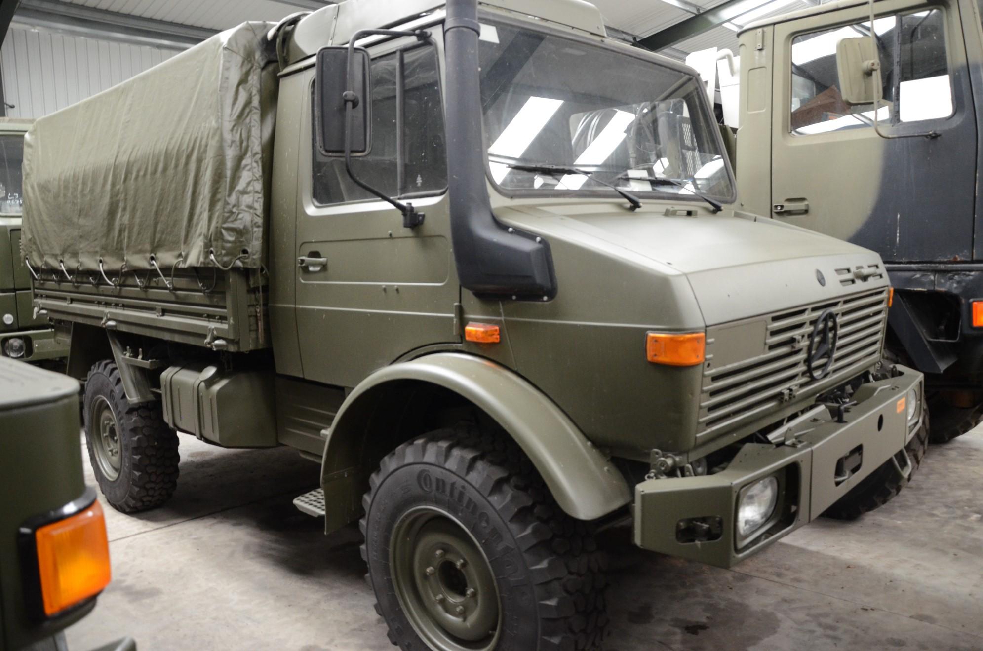 Mercedes Unimog  U1300L 4x4 Drop Side Cargo Truck | used military vehicles, MOD surplus for sale