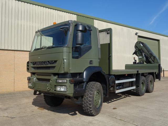 WAS SOLD Iveco Trakker 6x6 crane truck