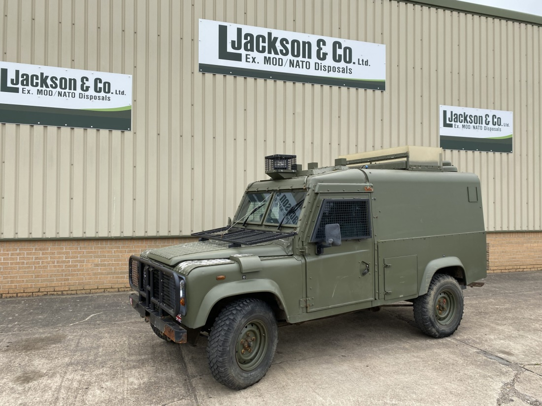 Land Rover Snatch 2B Armoured Defender 110 300TDi for sale | military vehicles