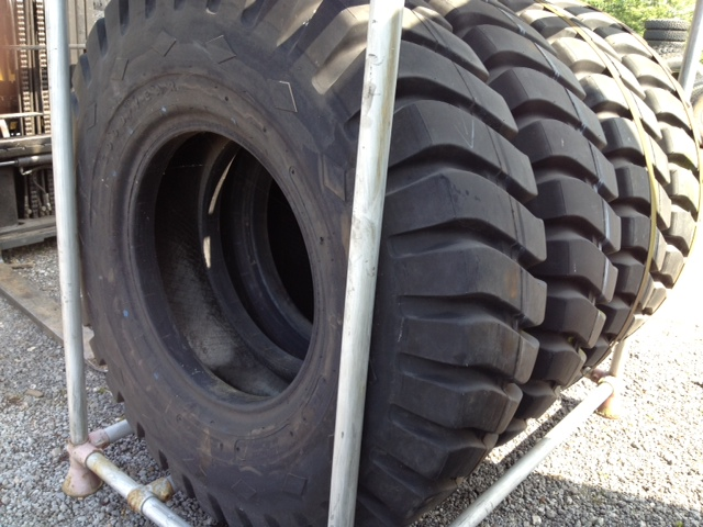 WAS SOLD Goodyear 14.00 x 24 ply tyres Unused