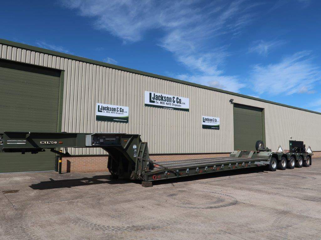 King GTL 93/5HS 5 Axle Low Loader Trailer for sale | military vehicles