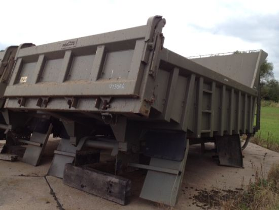 Roelof Heavy Duty Steel Rock Bodies with Edbro Tipping gear  for sale. The UK MOD Direct Sales
