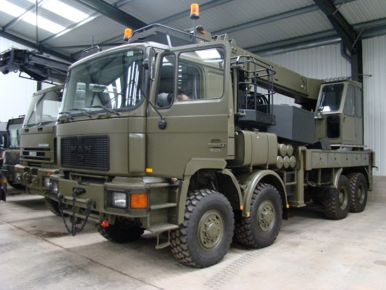 MAN 41.372 8x8 LHD recovery/ 28t crane truck | used military vehicles for sale
