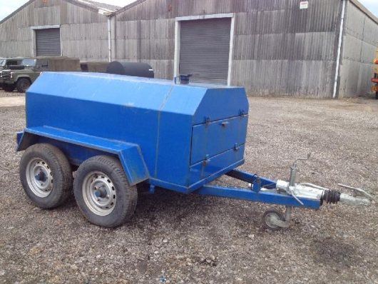 WAS SOLD Bunded  1200 litre twin axle fuel bowser trailer