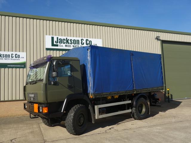 MAN 10.185 4x4 drop side cargo trucks