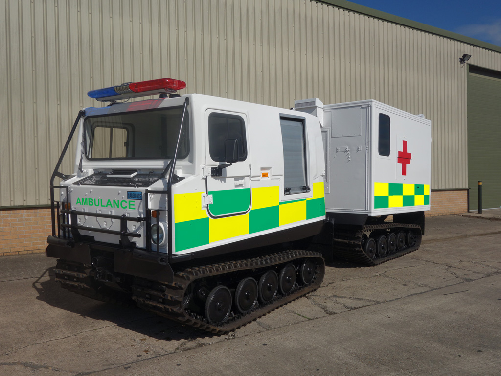 Hagglund Bv206 hard top Ambulance for sale | military vehicles