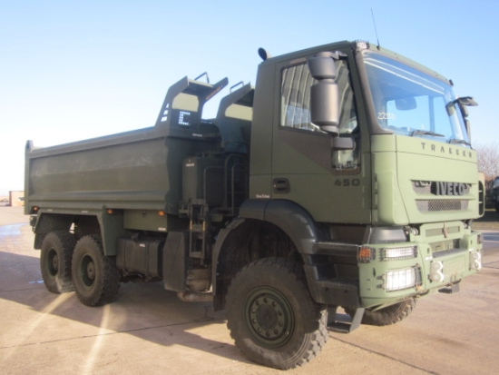 Iveco trakker 6x6 RHD tippers truck for sale | military vehicles