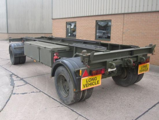 King 20ft container trailer 15 ton capacity |  EX.MOD direct sales