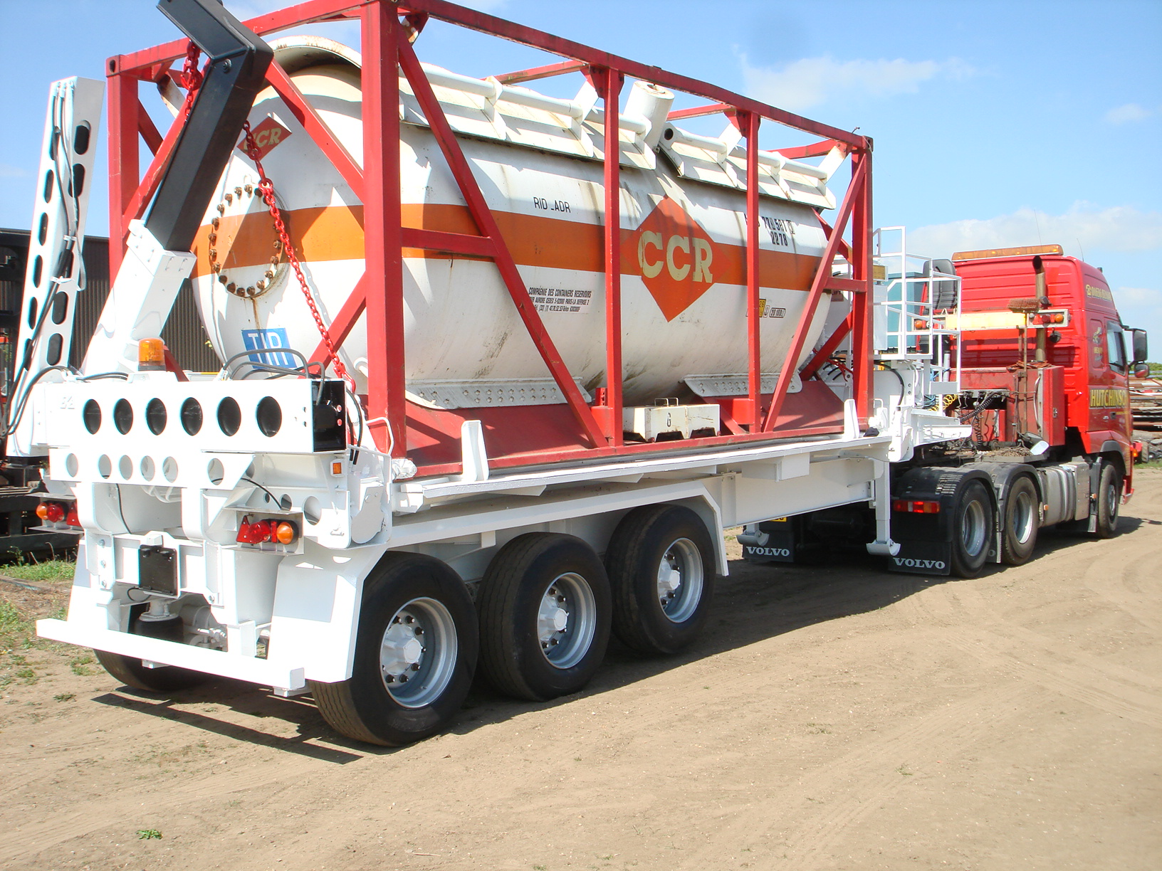 Ekalift military container handling trailer
