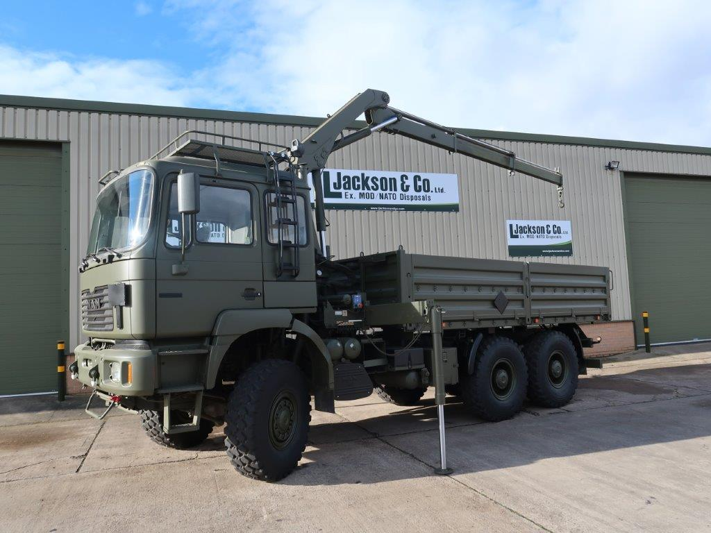 WAS SOLD Man 27.314 6x6 LHD Drop side cargo truck with crane