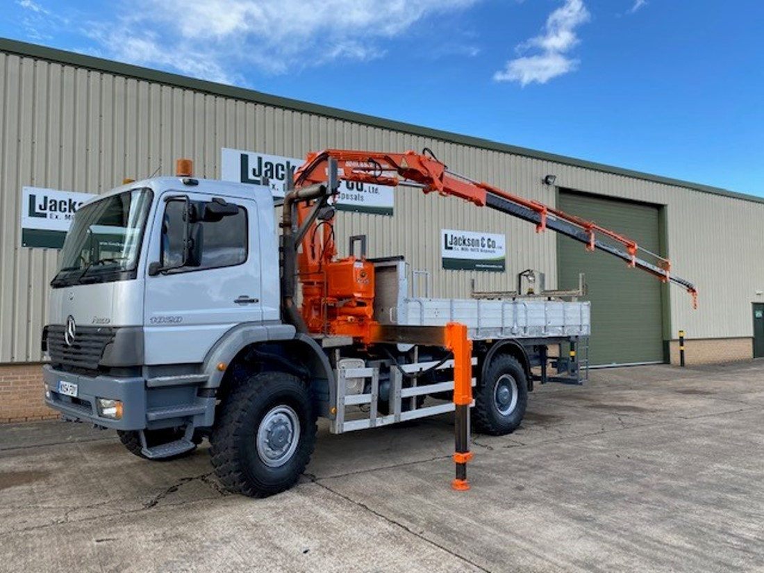 WAS SOLD Mercedes Atego 1828 4x4 Crane Truck